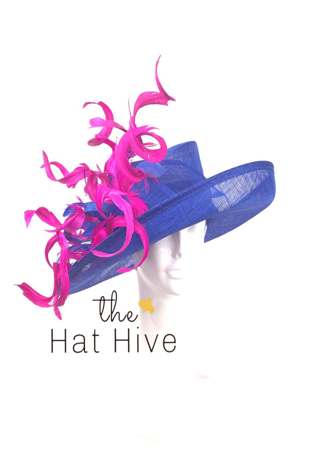 (1) Royal Blue amp Fuchsia Pink Kentucky Derby Hat – The Hat Hive
