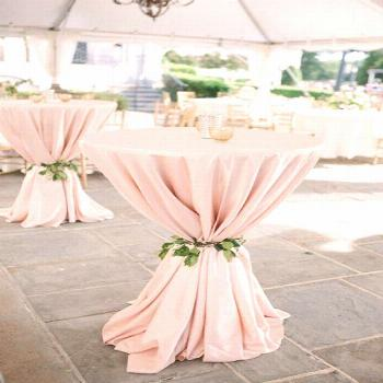 Blush Tablecloth, Cocktail table, 120