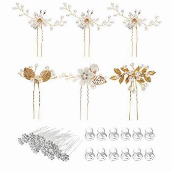 38 Pack Women Wedding Bridal Bride Hair Clips Side Combs