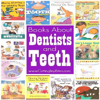 Books About Dentists and Teeth -  Childrens books about dentists and teeth.  Choices for toddlers,