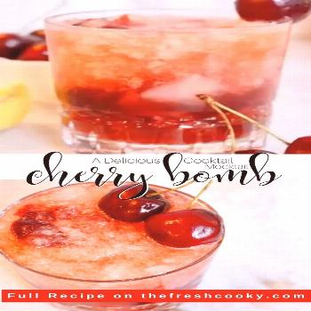 Cherry Bomb Cocktail This Cherry Bourbon Smash has so much depth and is so refreshing and delicious