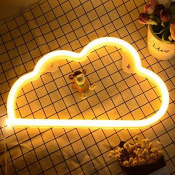 Cloud Neon Signs- Neon Lights for Wall Decor USB or Battery