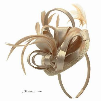 Fascinator Hats for Women Feather Cocktail Party Hats Bridal