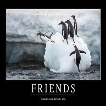 Friends Too Much Work Funny Demotivational Cool Wall Decor