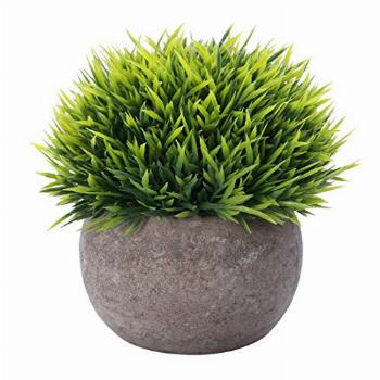 HC STAR Artificial Plant Potted Mini Fake Plant Fake Grass
