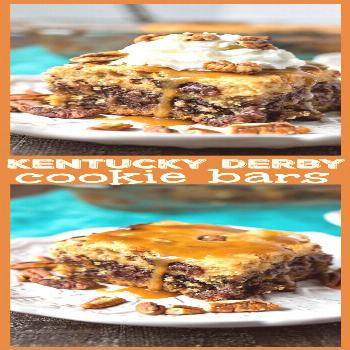 Kentucky Derby Cookie Bars – You haven't had derby pie like this – a chocolate chip cookie cr