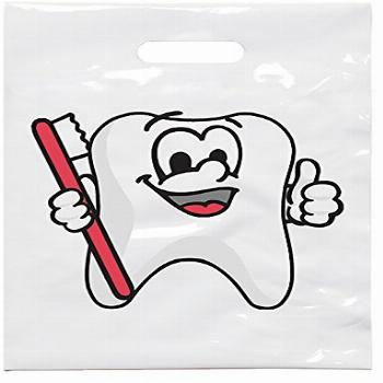 Practicon 1109638 Tootie Tooth Patient Care Bags (Pack of