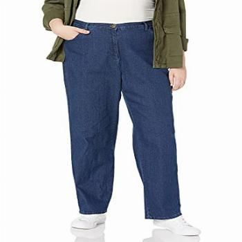 Ruby Rd. Women's Plus-Size Classic 5-Pocket Fly Front Denim