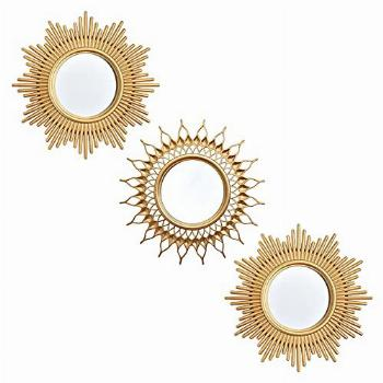 Small Wall Mirrors Decorative Living Room Set of 3 | Round