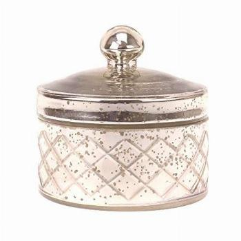 Stonebriar Antique Mercury Glass Storage Container with Lid,