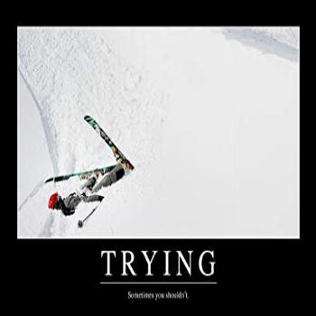 Trying Sometimes You Shouldnt Funny Demotivational Cool Wall