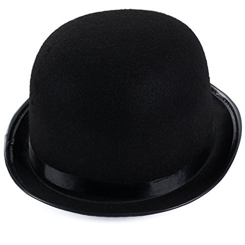 Black Derby Deluxe Costume Hat by Funny Party Hats (Derby