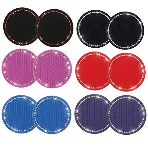 Bling Car Coasters Silicone Drink Coaster Anti Slip 2.75quot