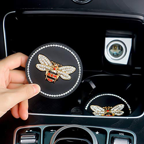 Car Coasters for Cup Holders Bling Car Accessories Silicone