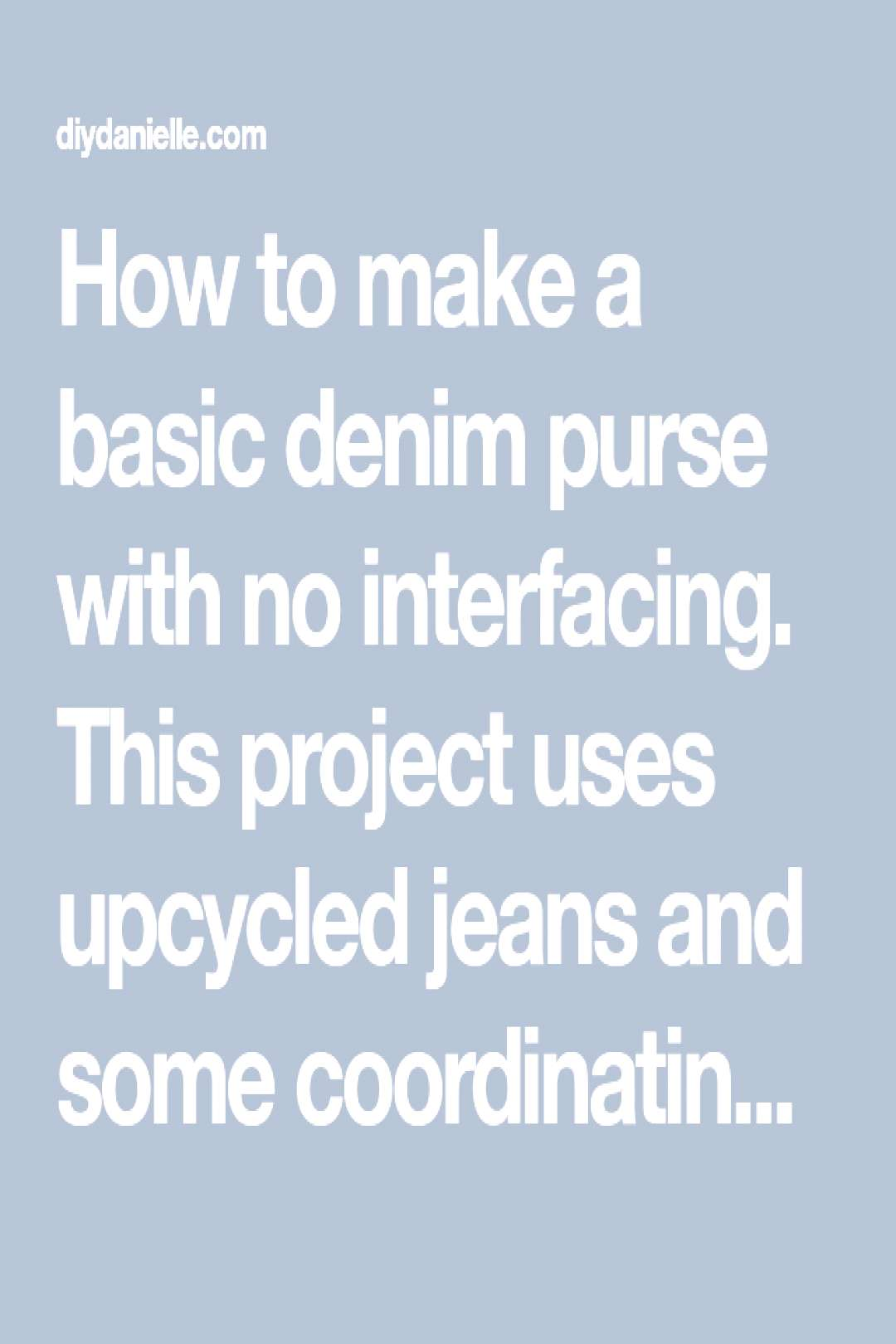 How to make a basic denim purse with no interfacing. This project uses upcycled jeans and some coor