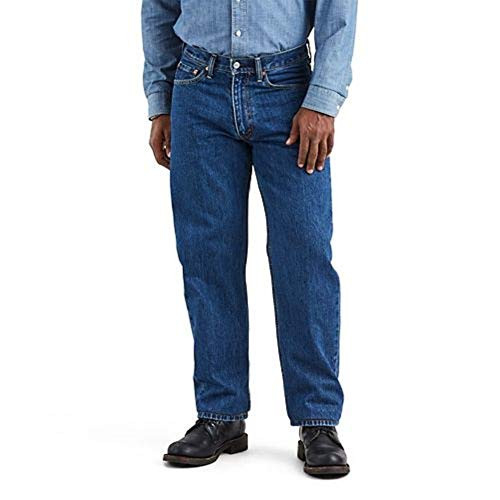 Levis Mens 550 Relaxed Fit Jeans, Dark Stonewash, 38W x