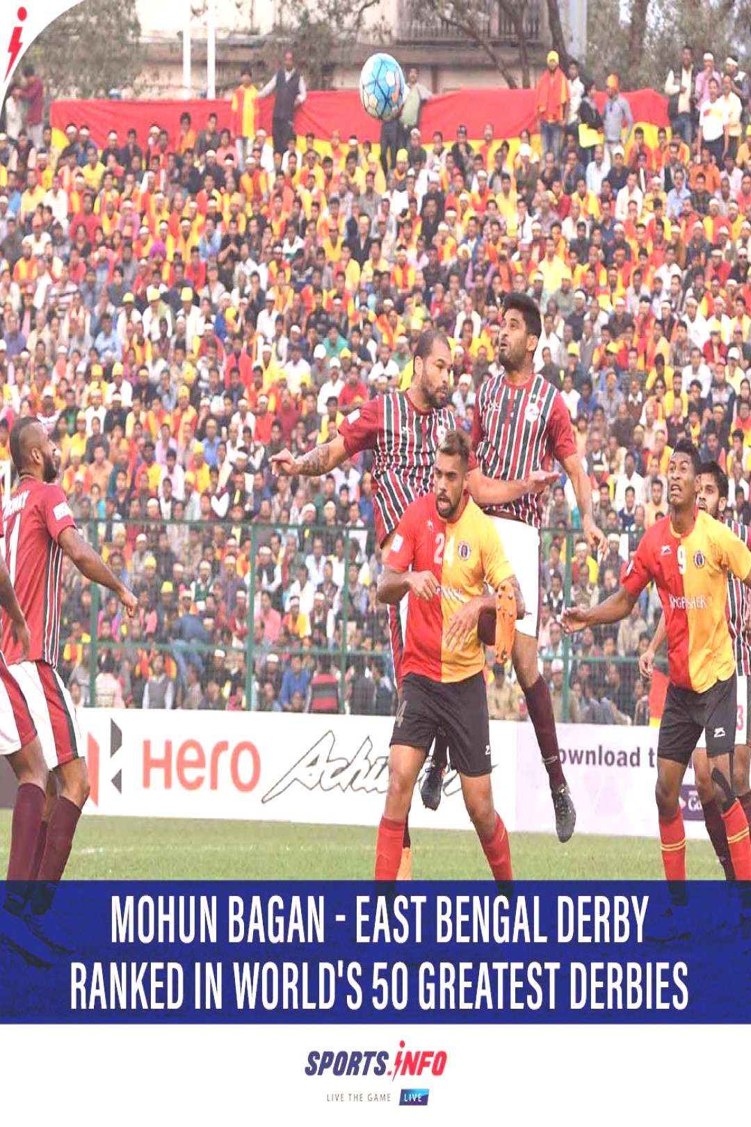 Record of East Bengal vs Mohun Bagan Derby UKs football magazine FourFourTwo ranked the match in t