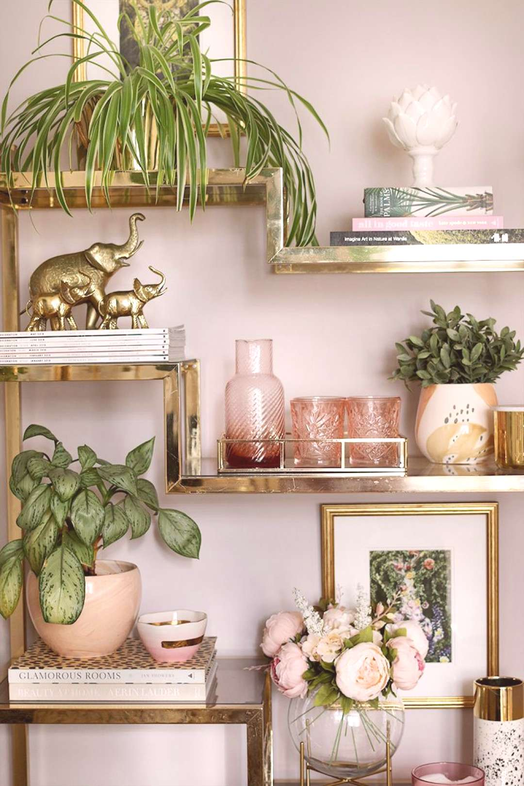 shelf styling - how to create a cohesive theme with accessories in your home