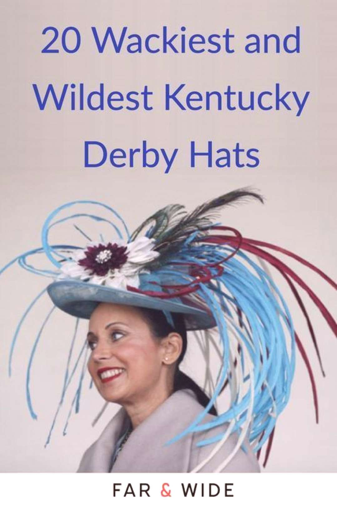 Wackiest and Wildest Kentucky Derby Hats What do birds, cocktails, pinwheels and stuffed animals ha